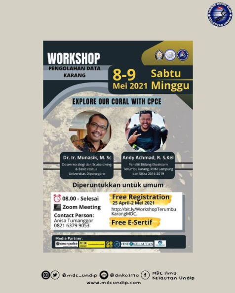 """Workshop """"Explore Our Coral with CPCe"""""""